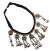 Kuchi Black Cord Pendants Coins Necklace for Belly Dance Costuming DIY