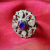Vintage Kuchi Jewel Ring for Tribal Belly Dance