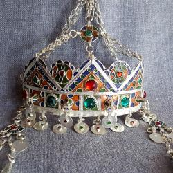 Berber Moroccan Taounza Crown Diadem Tribal Belly Dance Headpiece