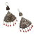 Central Asian Style Doublel Peacock Design Earrings for Tribal Belly Dance