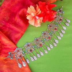 New Turkoman Style Headpiece for Tribla Belly Dance Costuming