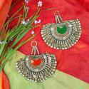Vintage Kuchi Matakai Peacock Pendant Pair for Tribal Belly Dance Costuming DIY