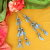 Pair of Turkoman Style Metal Tribal Tassels for Belly Dance