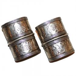 Olami Turkoman Tribal Belly Dance Cuff Bracelet PAIR