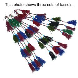 Pair of Turkoman Tassels for Tribal Belly Dance DIY Costuming - Central Asian Tassels Decor Ornament