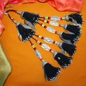 Black Turkoman Tribal Tassels - Pair New Belly Dance Tassel for Costuming DIY