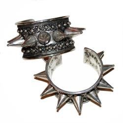 Miao Large Tribal Spiked Cuff Bracelet for Belly Dance Costuming - Miao Chinese Minorities Jewelry