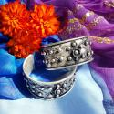 Miao Floral Design Cuff - Tribal Belly Dance Jewelry  - Chinese Minorities Hmong Jewelry for Dance Costuming - Wirework
