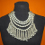 Ornate Beaded Tribal Kashmir Necklace with Jingling Bells for Tribal Belly Dance Costuming