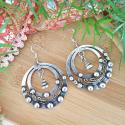 Miao Tribal Earrings for Belly Dance Costuming - Tribal Hoop Earrings