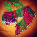 Vintage Turkoman Silk fringe, Turkoman beaded fringe, Cotton / Silk Vintage Fringe