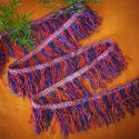 Vintage Turkoman Silk fringe, Turkoman beaded fringe, Cotton / Silk Vintage Fringe, Tribal Belly Dance DIY Fringe