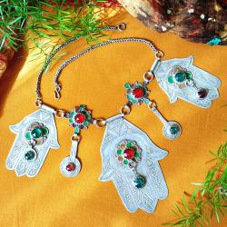 Khemmiset Hamsa Moroccan Berber Tribal Necklace
