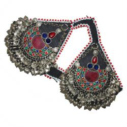 Matched Pair of Large Matakai Kuchi Pendants for Headpiece - Tribal Belly Dance DIY Costuming