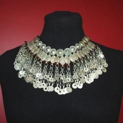 Tribal Kuchi Component Necklace - Tribal Jewelry - Kuchi Dangles Necklace for Tribal Belly Dance Costuming