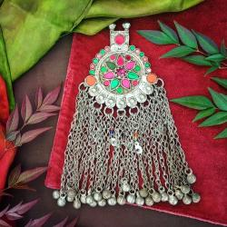 Waziri Pendant - Tribal Belly Dance Pendant - Large Kuchi Pendant - Tribal Belly Dance DIY