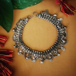 Indian Tribal Ankle Bacelet - Tribal Belly Dance Jewelry - Tribal Jewelry - Indian Payal Anklet