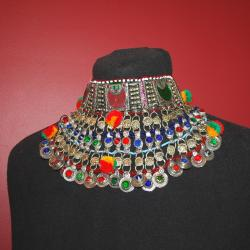 Vintage Kuchi Choker Tribal Belly Dance Necklace
