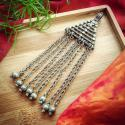 Banjara Triangle Dangle Pendant - Tribal Belly Dance DIY Pendant for Costuming and Jewelry Making - Indian Banjara Rabar