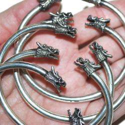 Miao Slim Dragon Bangle - Tribal Belly Dance Bracelets - Makara Water Dragon Bracelet
