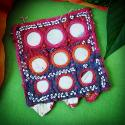 Banjara Vintage Tribal Mirror Textile Patch - Tribal Belly Dance Costume DIY Textile - Banjara Lambani Rabari Tribal Mir