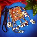 Banjara Small Vintage Tribal Textile Pouch - Tribal Belly Dance Costume Mirror Textile Bag - Banjara Lambani Rabari Trib