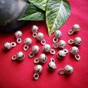 Embossed Bells from India - 18 Silver Color Bells for Tribal Belly Dance Costuming DIY - Indian Metal Bells