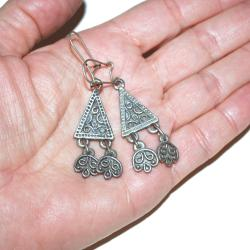 Moroccan Earrings for Tribal Belly Dance - Contemporary Moroccan Dangle Earrings - Tribal Belly Dance Costuming