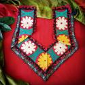 Uzbek Saye Gosha Embroidery Section - Tribal Belly Dance DIY Costuming Embroidery - Uzbekistani Segusha Household Decora