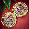 Tribal Medallions Gul - 3.75 Inches - Belly Dance Costuming DIY Rounds Rosettes Disks