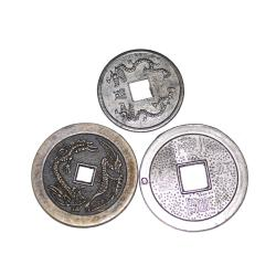 27 Reproduction Chinese Coins - Large Brassy DIY Coins - Tribal Belly Dance Costuming DIY Coins