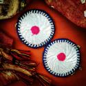 Kuchi Vintage Tribal Medallions Gul - 3 Inches - Vintage Pair - Belly Dance Costuming DIY Rounds Rosettes Disks